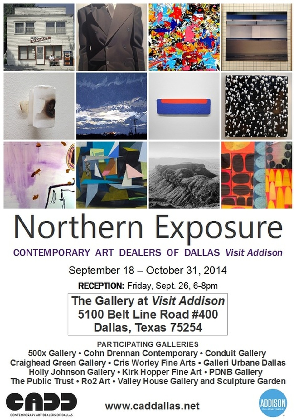 Northern Exposure: Contemporary Art Dealers of Dallas Visit Addison - Sept 18 thru Oct 31, 2014