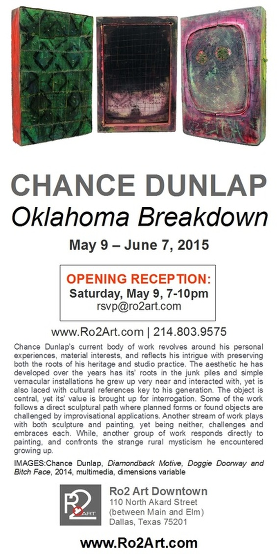 Chance Dunlap: Oklahoma Breakdown - on view at Ro2 Art Downtown Dallas - more info ro2art.com