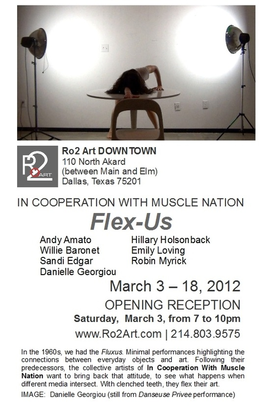In Cooperation with Muscle Nation at Ro2 Art Downtown - Andy Amato, Willie Baronet, Sandi Edgar, Danielle Georgiou, Hillary Holsenbock, Emily Loving, Robin Myrick - opens March 3, 2012 - Dallas, TX